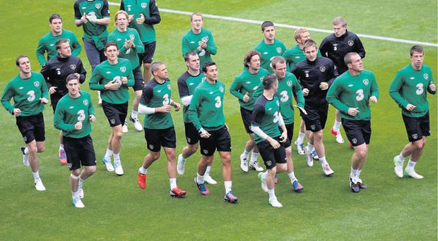 Giovanni Trapattoni has put the Irish squad through a heavy training schedule prior to their Euro 2012 Group C opener against Croatia on Sunday