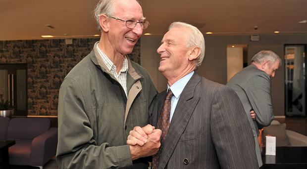 Jack Charlton and Giovanni Trapattoni meet at an event in Dublin in 2010. There are less than four years in age difference between the current Irish manager and former boss