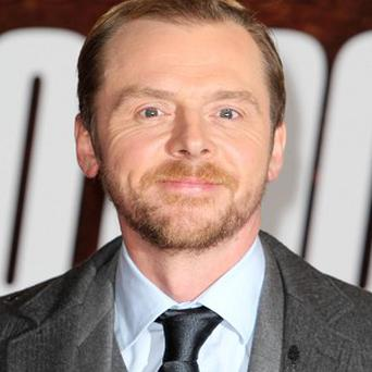 Simon Pegg enjoyed slobbing out for his latest role