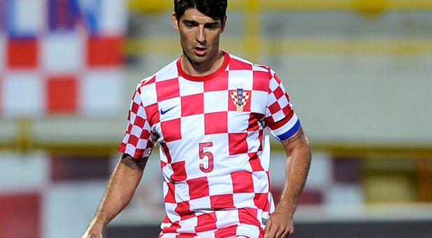 Vedran Corluka: injury doubt for Croatia. Photo: Getty Images