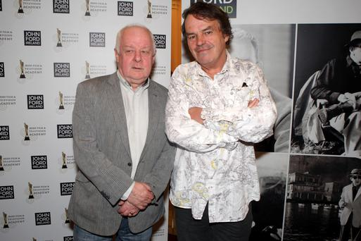 7/6/12 Jim Sheridan and Neil Jordan at the opening Gala Screening of John Ford Ireland Film SymposiumTHE IRON HORSE - Irish Premiere at the National Concert Hall. Picture:Arthur Carron/Collins
