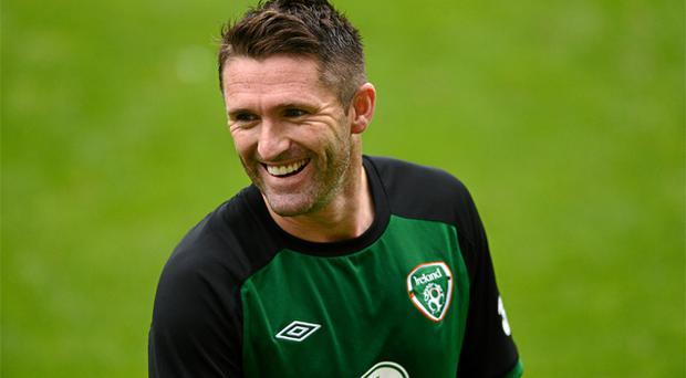 Robbie Keane during squad training ahead of their opening Euro 2012, Group C, game against Croatia on Sunday. Photo: Sportsfile