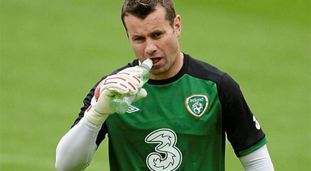 Shay Given took a limited part in the Irish training session yesterday but is still expected to start against Croatia on Sunday
