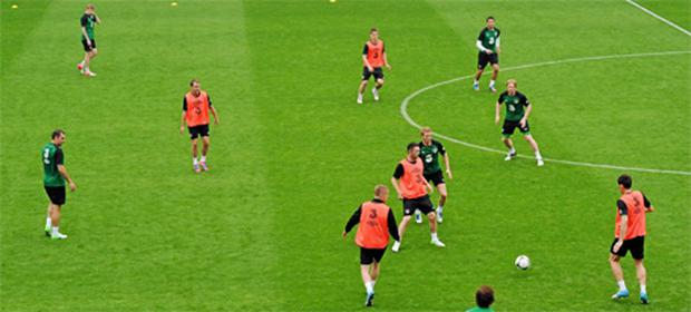 Ireland players during squad training ahead of the game against Croatia