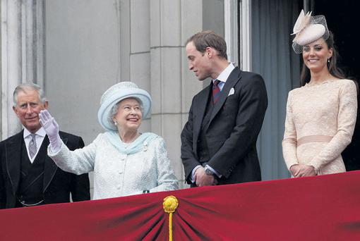IN FAVOUR, OUT OF FAVOUR: From left, Prince Charles, Queen Elizabeth II, Prince William and his wife Catherine