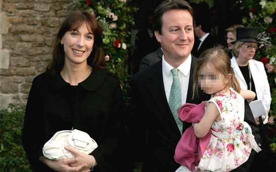 Samantha and David Cameron with their daughter Nancy Photo: Getty Images