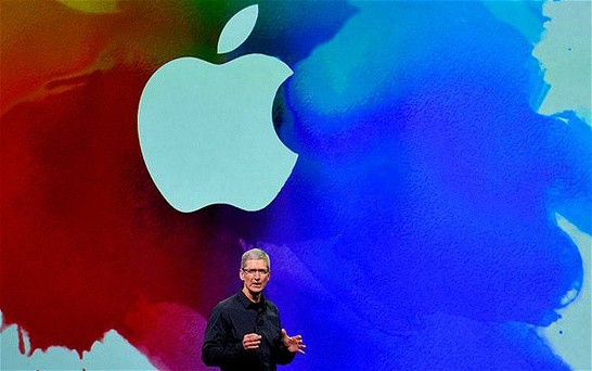 Tim Cook announces the new Apple iPad in San Francisco. Photo: Bloomberg