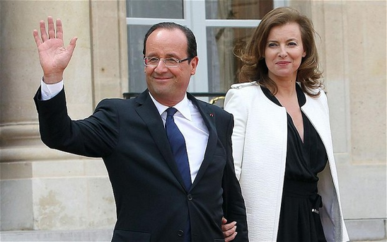 The French president, François Hollande, and his partner, Valerie Trierweiler Photo: REX