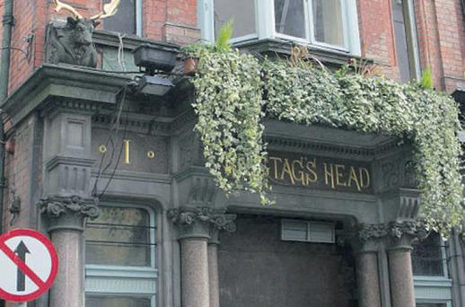 The Stag's Head pub in Dublin is part of the Louis Fitzgerald pub, restaurant and hotel group.