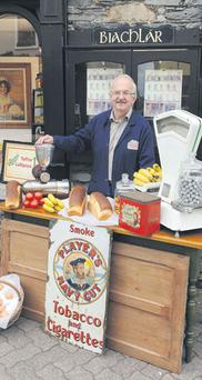 Retired grocer Paddy O'Donovan near where his shop used to trade