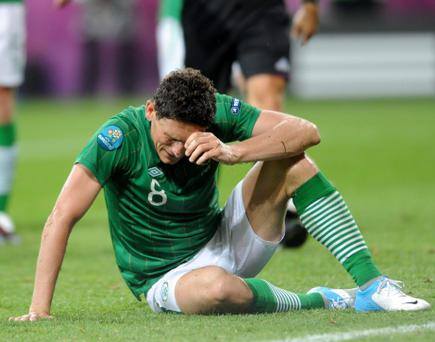 Keith Andrews dejected against Croatia four years ago