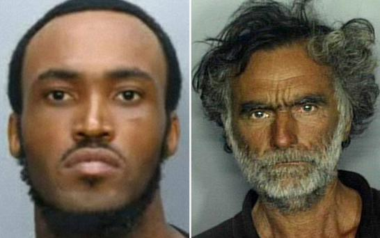 Rudy Eugene (left) was found naked and chewing on Ronald Poppo's face