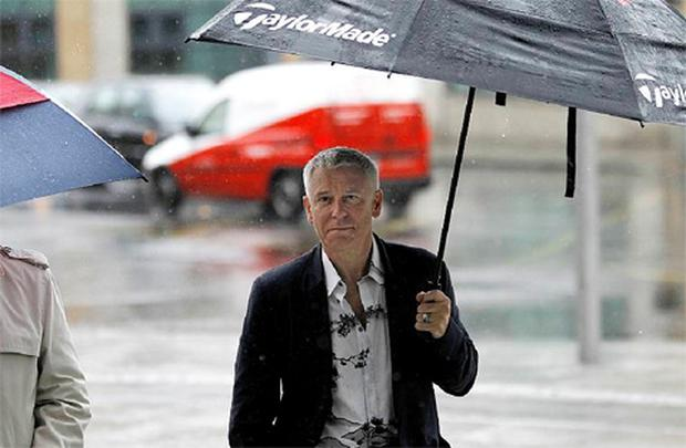 U2 Bass guitarist Adam Clayton arrives at Dublin Circuit Criminal Court.