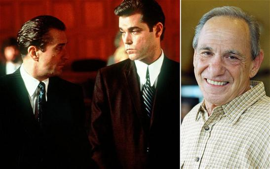 Ray Liotta (centre) played mob informant Henry Hill (right), in a scene with Robert De Niro, in the 1990 classic film Goodfellas. Photo: AP