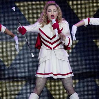 Madonna flashed her breast at fans in Turkey