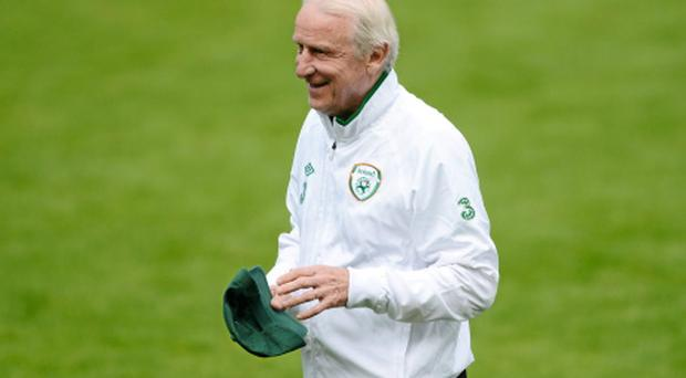 11 June 2012; Republic of Ireland manager Giovanni Trapattoni during squad training ahead of their UEFA EURO 2012, Group C, game against Spain on Thursday. Republic of Ireland EURO2012 Squad Training, Municipal Stadium Gdynia, Poland. Picture credit: David Maher / SPORTSFILE