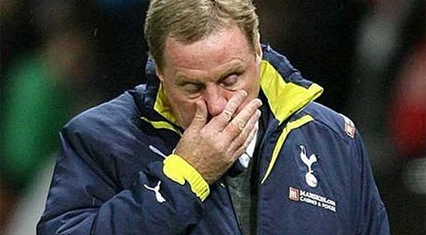 End of the line: Harry Redknapp is no longer the manager of Tottenham Hotspur. Photo: PA