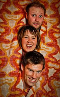 Fred Cooke, Eleanor Tiernan and Aidan Bishop at the launch of the Vodafone Comedy Festival