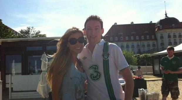 Kevin Doyle with Claudine Keane