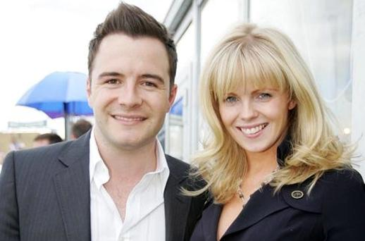 BOY ZONE: Third-time father, Westlife's Shane Filan pictured with his wife Gillian last year