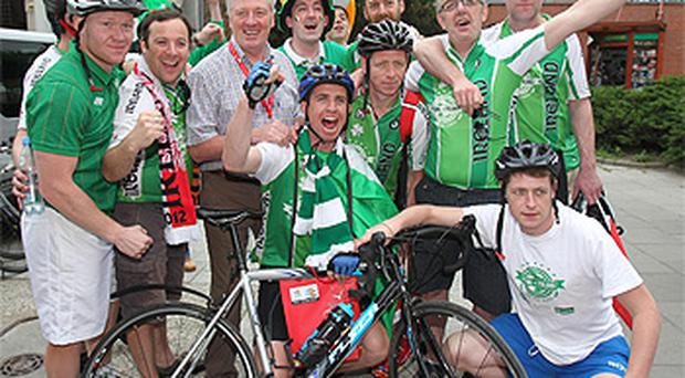 Pat Kenny meets the Pedal to Poland charity team