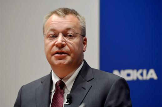 Nokia CEO Stephen Elop speaks during the company's news conference in Espoo. Photo: Reuters