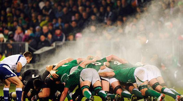 IRELAND came agonisingly close to a first win over the All Blacks in the AMI Stadium today only to be denied by last minute Dan Carter drop-goal. Photo: Reuters