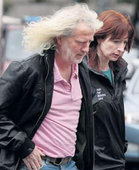 NOT ALONE: Mick Wallace with socialist TD Clare Daly
