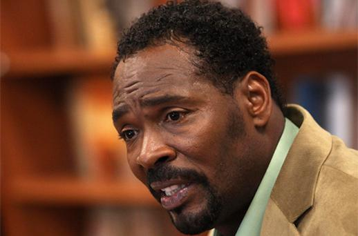 Rodney King speaks during a signing of his book 'The Riot Within: My Journey from Rebellion to Redemption' in New York in April this year. Photo: Reuters