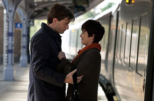 Together again: David Tennant and Vicky McClure as Nick and Serena in True Love. Photo: BBC