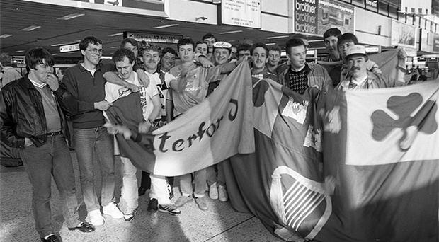 In Dublin Airport on the way to Germany for Euro 88