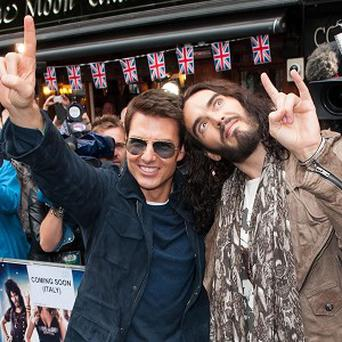Tom Cruise and Russell Brand star alongside each other in Rock Of Ages