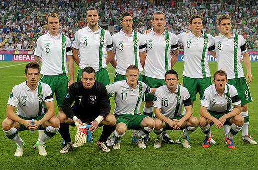 The Ireland team