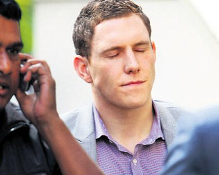 John McAreavey outside court in Mauritius yesterday