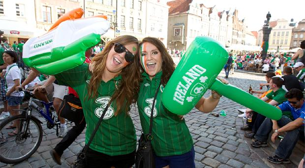 Trish Freeley and Ciara Corrigan in Poznan yesterday