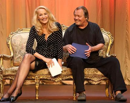 Jerry Hall and David Soul at the Gaiety Theatre where they are set to return to Dublin for one week in A.R. Gurney's 'Love Letters'.