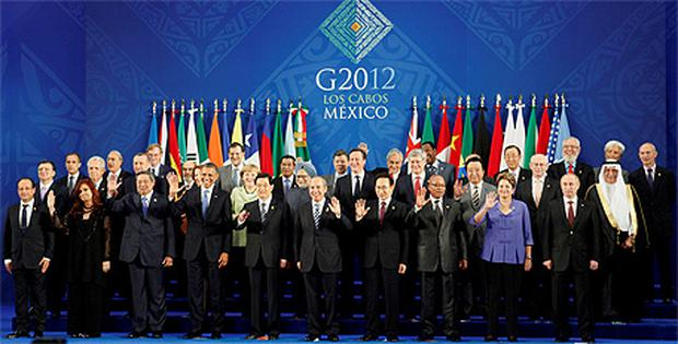 Leaders of the G20 nations in Mexico