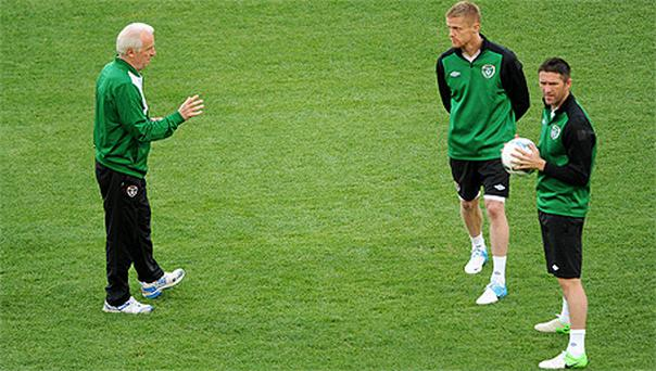 Giovanni Trapattoni has defended the decision to stick with his senior players