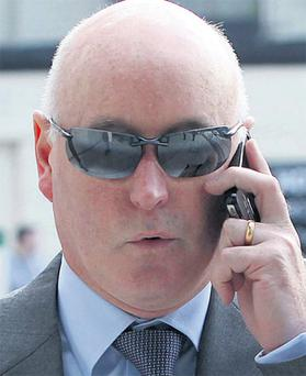 Anthony Lyons arriving at court yesterday