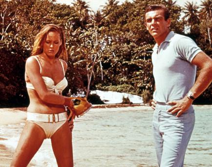 VARIOUS...Mandatory Credit: Photo By SNAP / REX FEATURES FILM STILLS OF 'DR. NO' WITH 1962, URSULA ANDRESS, BEACH, BIKINI, CLOTHING, SEAN CONNERY, SEAN AS