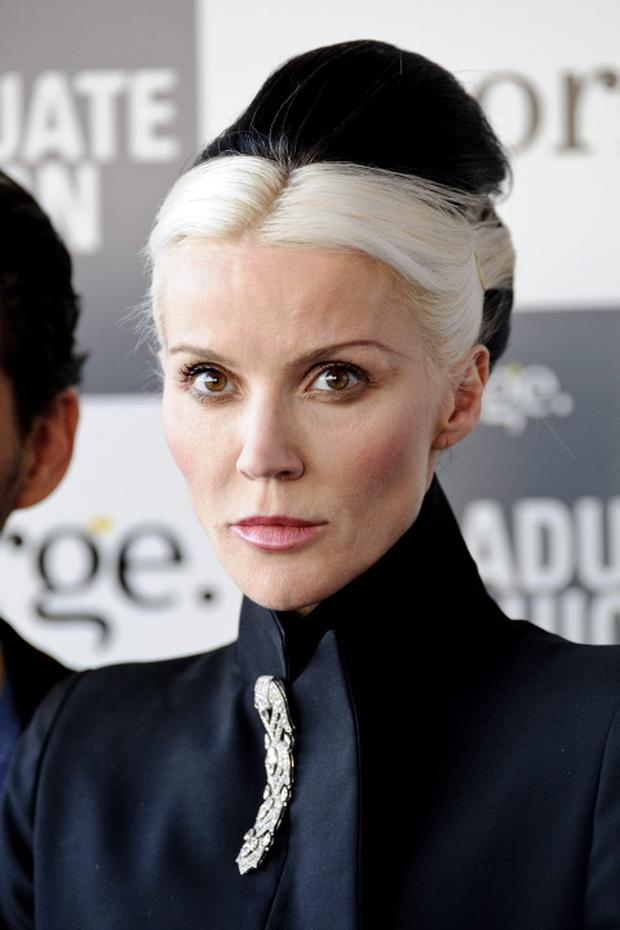 LONDON, ENGLAND - JUNE 13: Daphne Guinness attends the Graduate Fashion Week 2012 Gala Show at Earls Court 2 on June 13, 2012 in London, England. (Photo by Ben Pruchnie/Getty Images)