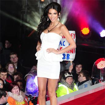 Georgia Salpa making her entrance into the 'Celebrity Big Brother' house. She was reportedly paid €100,000 to appear.