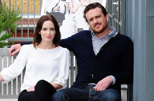 Jason Segel and Emily Blunt ahead of the release of their new film Five Year Engagement