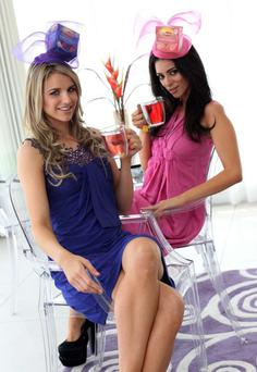 Brian McFadden's wife-to-be Vogue Williams and Georgia together at a photocall announcing details of the Lipton Fruit and Herbal ' Drink Gorgeous Garden party' at food festival Taste of Dublin.