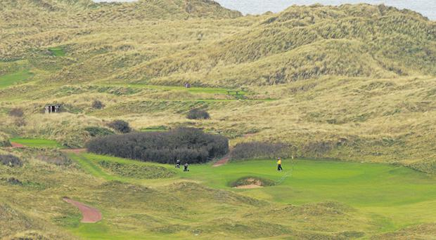 'Darren sold Portrush to me,' said Jose-Maria Olazabal. 'He was always telling me about this fantastic, natural links and its beautiful location.'