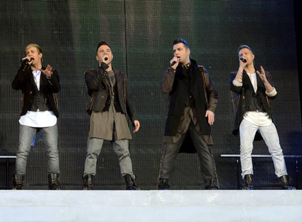 Westlife play their farewell concert at Croke Park in Dublin on June 22nd 2012.