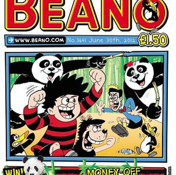 The latest Beano where the UK's only pandas have been captured in cartoon form (Edinburgh Zoo/PA)