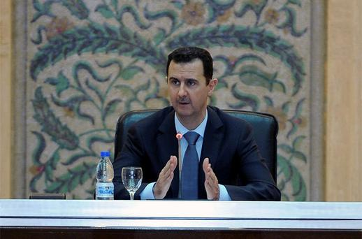 Syria's President Bashar al-Assad said the country was in 'a state of war' on Tuesday and ordered his new cabinet to focus all its efforts on crushing the 16-month uprising that has left thousands of civilians dead and shaken his grip on power. Photo: Reuters