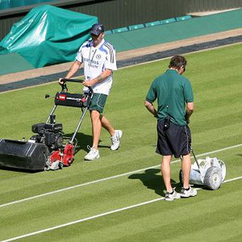 A new electric lawnmower is being trialled during Wimbledon this year