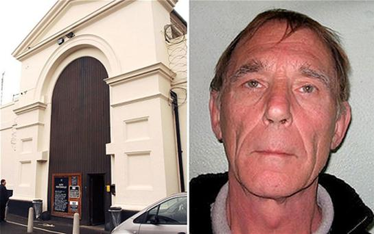 Convicted murderer John Massey, 64, right, has escaped from HMP Pentonville in North London, left. Photo: PA